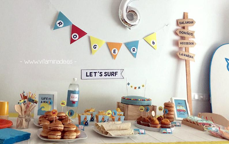 fiesta imprimible surf