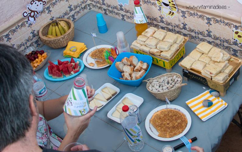 comida saludable en cumpleaños