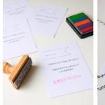 Ideas para usar el sello personalizado de tu peque