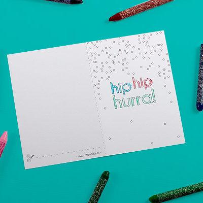 tarjeta de felicitacion para colorear
