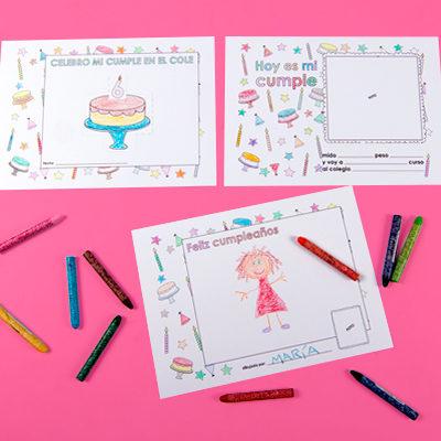 kit imprimible para celebrar tu cumpleaños en el colegio